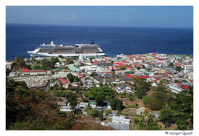 Blick vom Morne Bruce Point - Dominica
